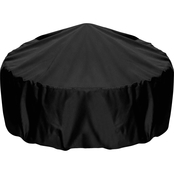 Two Dogs Designs 36 In. Fire Pit Cover, Black