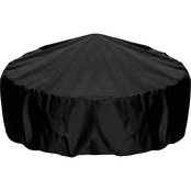 Two Dogs Designs 48 In. Fire Pit Cover, Black