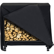 Two Dogs Designs 48 In. Log Rack Cover, Black
