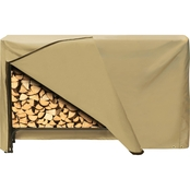 Two Dogs Designs 96 In. Log Rack Cover, Khaki