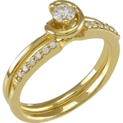 14K Gold 1/4 CTW Diamond Bridal Set