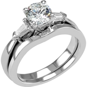 14K Gold 7/8 CTW Diamond Bridal Set