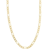 10K Yellow Gold 24 In. 7.3mm Figaro Chain