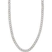 10K White Gold 24 In. 8.5mm Curb Chain