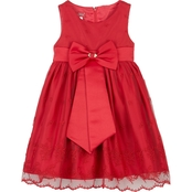 Princess Faith Little Girls Large Bow Dress