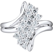 Sterling Silver White Cubic Zirconia Ladies Ring