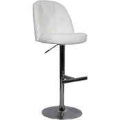 Whalen Archer Stool, White