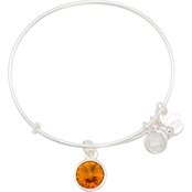 Alex And Ani November Topaz Crystal Birthstone Charm Bangle