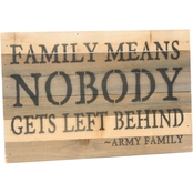 Uniformed Nobody Gets Left Behind 12 x 8 in. Reclaimed Wood Sign