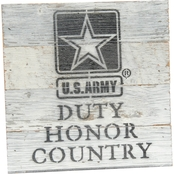 Uniformed Duty Honor Country 8 x 8 in. Reclaimed Wood Sign