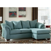 Signature Design By Ashley Darcy Sofa Chaise, Sky