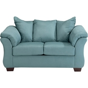 Signature Design by Ashley Darcy Loveseat, Sky