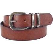 Dezine News Accessories Double Metal Loop Brown Belt