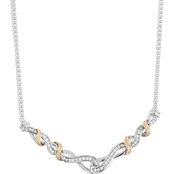Sterling Silver 1/4 CTW Diamond Necklace