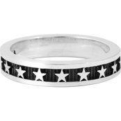 King Baby Sterling Silver Engraved Stars Stackable Ring