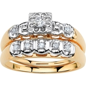 Palm Beach 10K Yellow Gold 1/4 CTW Round Diamond Bridal Set
