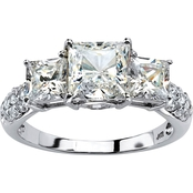 Palm Beach 10K White Gold Cubic Zirconia Engagement Anniversary Ring