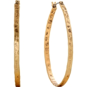 Lucky Brand Gold Oblong Hoop Earrings