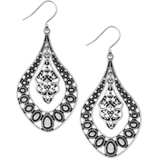 Lucky Brand Silver Filigree Oblong Drop Earrings
