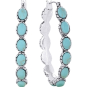 Lucky Brand Turquoise Hoop Earrings