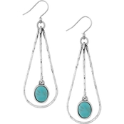 Lucky Brand Turquoise Drop Oblong Hoop Earrings