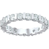 14K White Gold 2 CTW Diamond Eternity Band