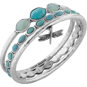 Lucky Brand Turquoise Dragonfly Bangle Bracelets
