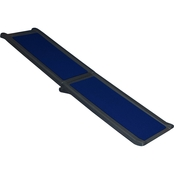 Pet Gear Full Length Tri-Fold Pet Ramp, Black/Blue