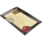 Pfaltzgraff Everyday Painted Poppies Rectangular Platter