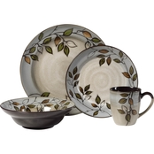 Pfaltzgraff Everyday Rustic Leaves 16 pc. Dinnerware Set