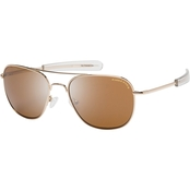 Eagle Eyes Freedom 23 R52 Sunglasses, Gold Frame/Brown Lens