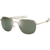 Eagle Eyes Freedom 27 R55 Sunglasses, Gold Frame/Green Lens