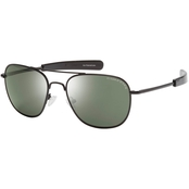 Eagle Eyes Freedom 37 R57 Sunglasses, Black Frame/Green Lens