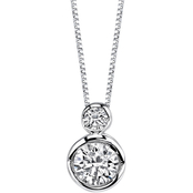 Sirena 14K White Gold 1/4 CTW Diamond Pendant