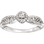 14K White Gold 1/4 CTW Diamond Engagement Ring