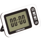 Farberware Protek Digital Large Read Timer and Clock, Black