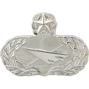 Air Force Master Historian Badge, Mirror Finish, Pin-On, Mid-Size
