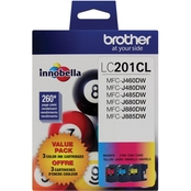 Brother LC2013PKS Cyan, Magenta and Yellow Ink Cartridge Value Pack