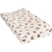 Trend Lab Safari Rock Band Flannel Changing Pad Cover