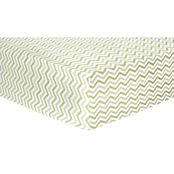Trend Lab Sage And Gray Chevron Flannel Fitted Crib Sheet