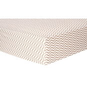 Trend Lab Doe Chevron Flannel Fitted Crib Sheet
