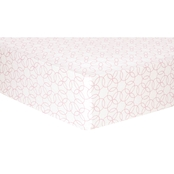 Trend Lab Pink Circles Flannel Fitted Crib Sheet