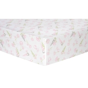Trend Lab Garden Gnomes Flannel Fitted Crib Sheet