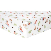 Trend Lab Forest Gnomes Flannel Fitted Crib Sheet