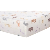 Trend Lab Crayon Jungle Flannel Fitted Crib Sheet