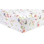 Trend Lab Winter Woods Flannel Fitted Crib Sheet