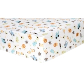 Trend Lab Jungle Friends Flannel Fitted Crib Sheet