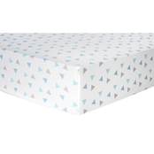 Trend Lab Mint Triangles Flannel Fitted Crib Sheet