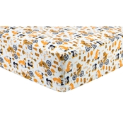 Trend Lab Let's Go Flannel Fitted Crib Sheet