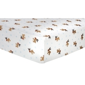 Trend Lab Reindeer Flannel Fitted Crib Sheet